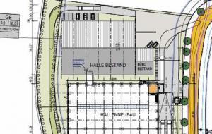 Neubau 4000m² Lager- und Logistikhalle